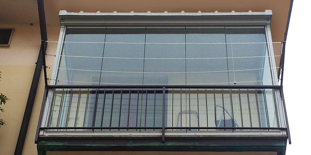 Panoramia per chiusura balcone con copertura