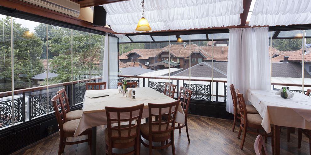 Panoramia vetrate per locale ristorante