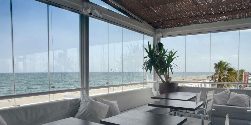 Panoramia vetrate per locale caffetteria